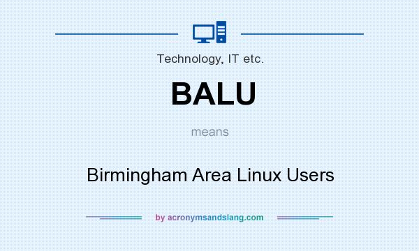 What does BALU mean? It stands for Birmingham Area Linux Users