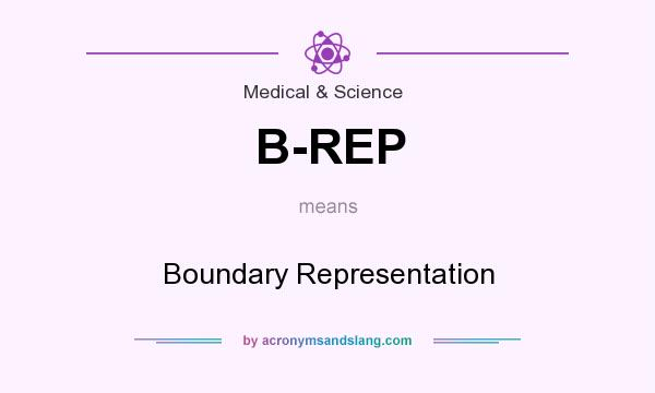 What does B-REP mean? It stands for Boundary Representation