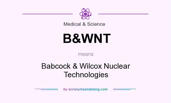 What does B&WNT mean? It stands for Babcock & Wilcox Nuclear Technologies