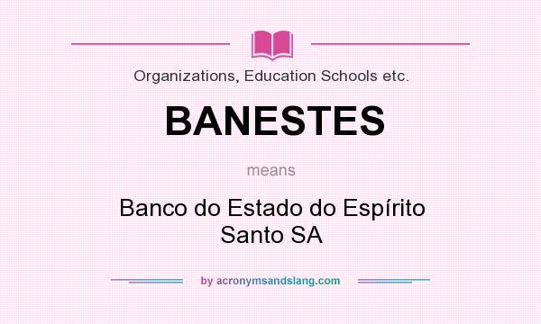 What does BANESTES mean? It stands for Banco do Estado do Espírito Santo SA
