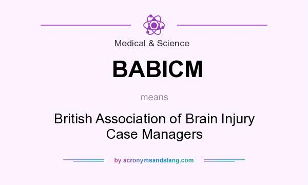What does BABICM mean? It stands for British Association of Brain Injury Case Managers
