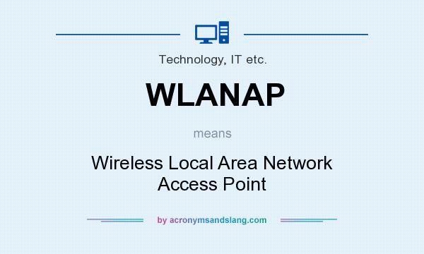 What does WLANAP mean? It stands for Wireless Local Area Network Access Point