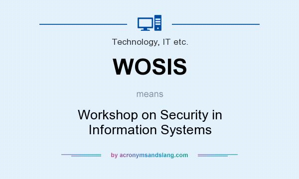 What does WOSIS mean? It stands for Workshop on Security in Information Systems