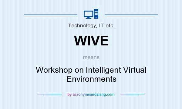 What does WIVE mean? It stands for Workshop on Intelligent Virtual Environments