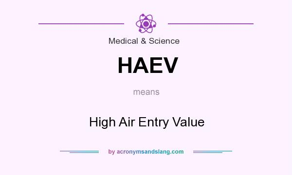 What does HAEV mean? It stands for High Air Entry Value