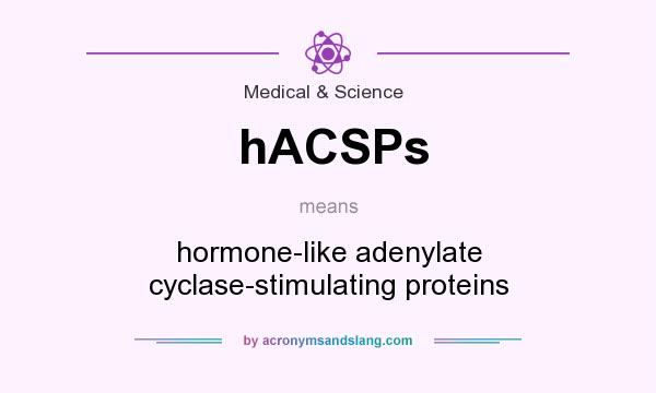 What does hACSPs mean? It stands for hormone-like adenylate cyclase-stimulating proteins