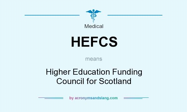 What does HEFCS mean? It stands for Higher Education Funding Council for Scotland