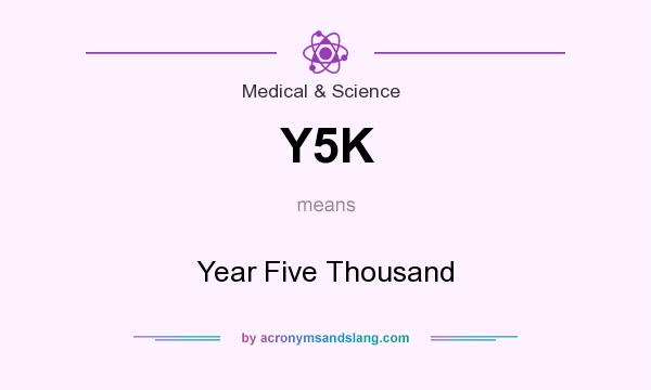 What does Y5K mean? It stands for Year Five Thousand