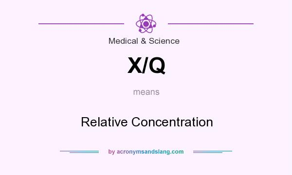 What does X/Q mean? It stands for Relative Concentration