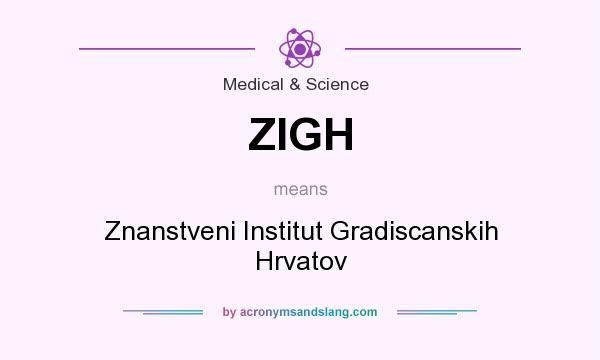 What does ZIGH mean? It stands for Znanstveni Institut Gradiscanskih Hrvatov