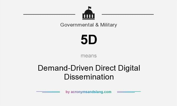 What does 5D mean? It stands for Demand-Driven Direct Digital Dissemination