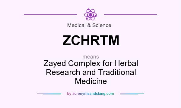 What does ZCHRTM mean? It stands for Zayed Complex for Herbal Research and Traditional Medicine