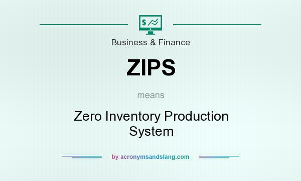 What does ZIPS mean? It stands for Zero Inventory Production System