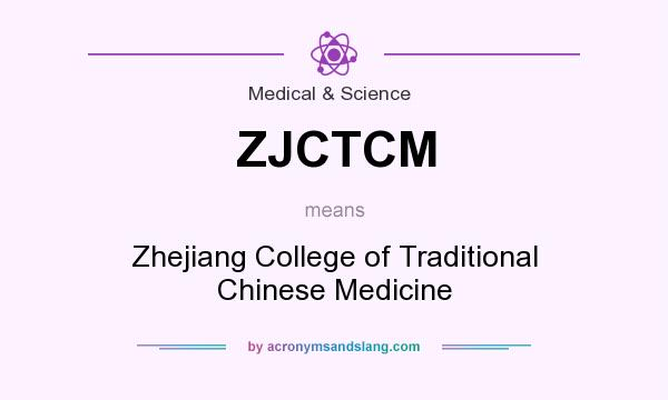 What does ZJCTCM mean? It stands for Zhejiang College of Traditional Chinese Medicine