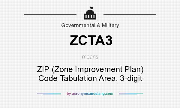 What does ZCTA3 mean? It stands for ZIP (Zone Improvement Plan) Code Tabulation Area, 3-digit