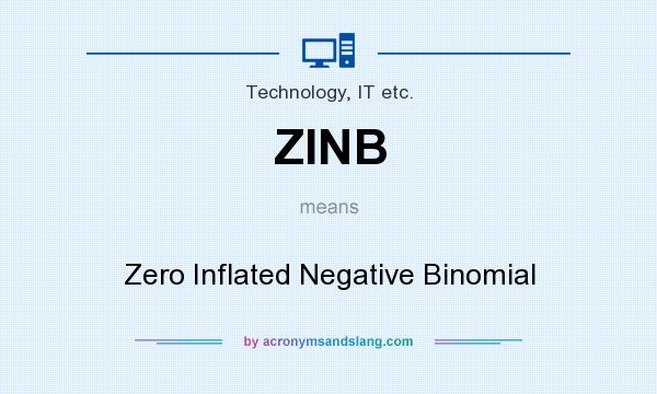What does ZINB mean? It stands for Zero Inflated Negative Binomial