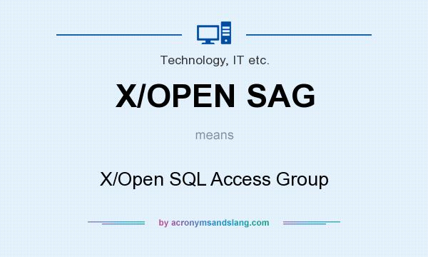 What does X/OPEN SAG mean? It stands for X/Open SQL Access Group