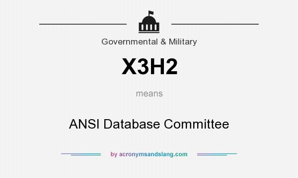 What does X3H2 mean? It stands for ANSI Database Committee