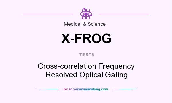 What does X-FROG mean? It stands for Cross-correlation Frequency Resolved Optical Gating