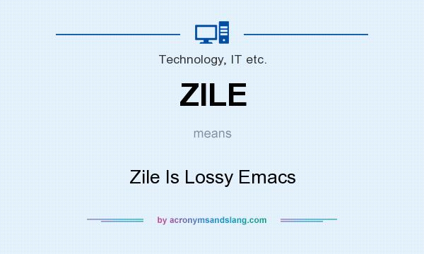 What does ZILE mean? It stands for Zile Is Lossy Emacs