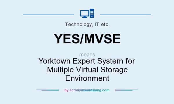 What does YES/MVSE mean? It stands for Yorktown Expert System for Multiple Virtual Storage Environment