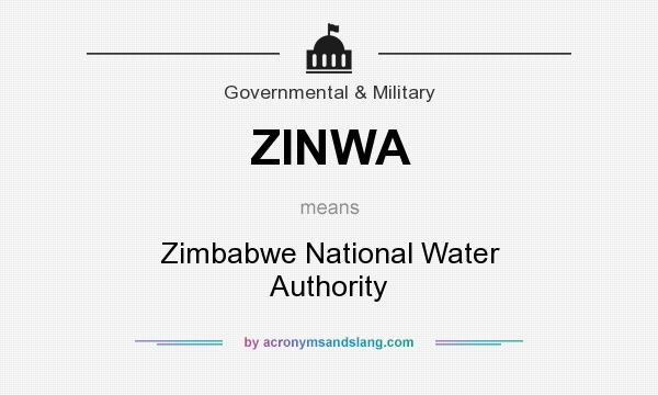 What does ZINWA mean? It stands for Zimbabwe National Water Authority