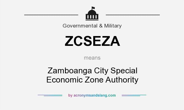 What does ZCSEZA mean? It stands for Zamboanga City Special Economic Zone Authority