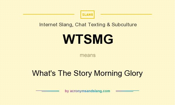 What does WTSMG mean? It stands for What`s The Story Morning Glory