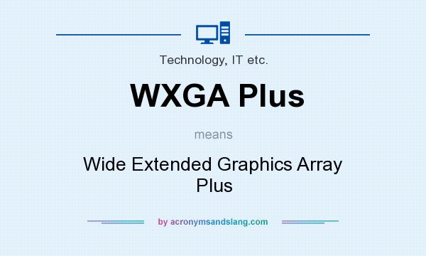 What does WXGA Plus mean? It stands for Wide Extended Graphics Array Plus