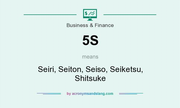 What does 5S mean? It stands for Seiri, Seiton, Seiso, Seiketsu, Shitsuke