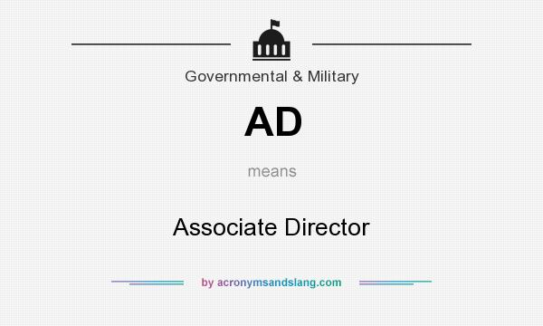 What does AD mean? It stands for Associate Director
