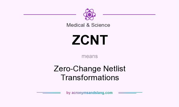 What does ZCNT mean? It stands for Zero-Change Netlist Transformations