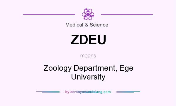 What does ZDEU mean? It stands for Zoology Department, Ege University