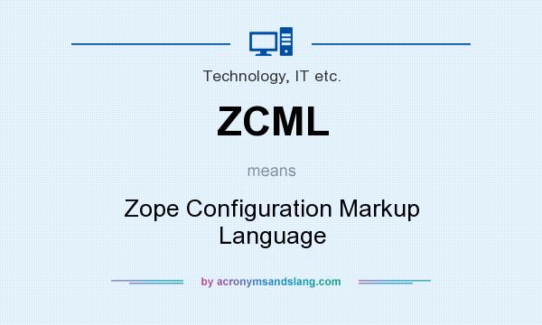What does ZCML mean? It stands for Zope Configuration Markup Language