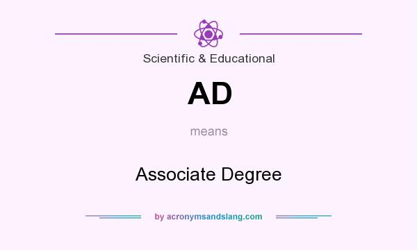 What does AD mean? It stands for Associate Degree