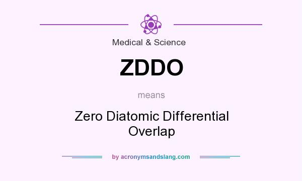 What does ZDDO mean? It stands for Zero Diatomic Differential Overlap