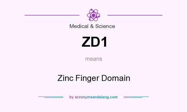 What does ZD1 mean? It stands for Zinc Finger Domain