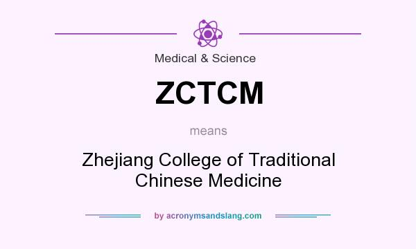 What does ZCTCM mean? It stands for Zhejiang College of Traditional Chinese Medicine