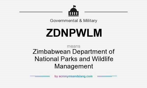 What does ZDNPWLM mean? It stands for Zimbabwean Department of National Parks and Wildlife Management