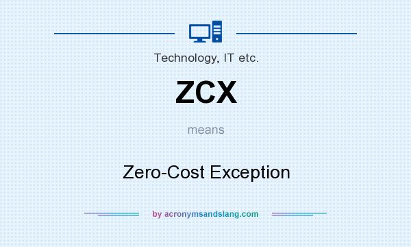 What does ZCX mean? It stands for Zero-Cost Exception