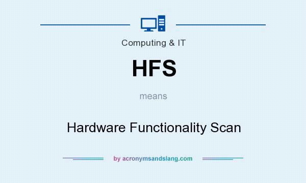 What does HFS mean? It stands for Hardware Functionality Scan