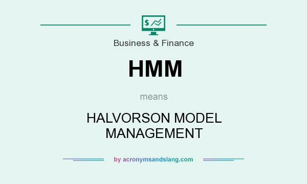 What does HMM mean? It stands for HALVORSON MODEL MANAGEMENT