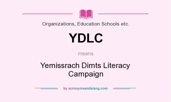 What does YDLC mean? It stands for Yemissrach Dimts Literacy Campaign
