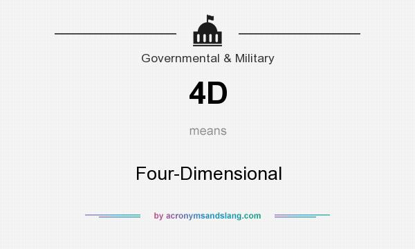 What does 4D mean? It stands for Four-Dimensional