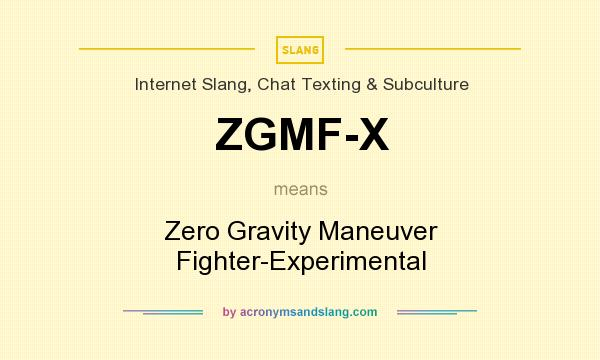 What does ZGMF-X mean? It stands for Zero Gravity Maneuver Fighter-Experimental