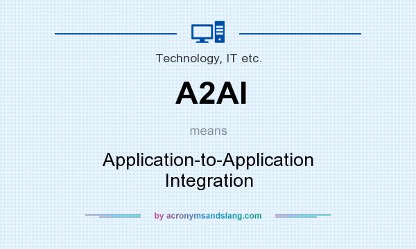 What does A2AI mean? It stands for Application-to-Application Integration