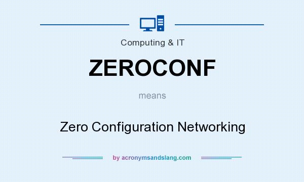 What does ZEROCONF mean? It stands for Zero Configuration Networking