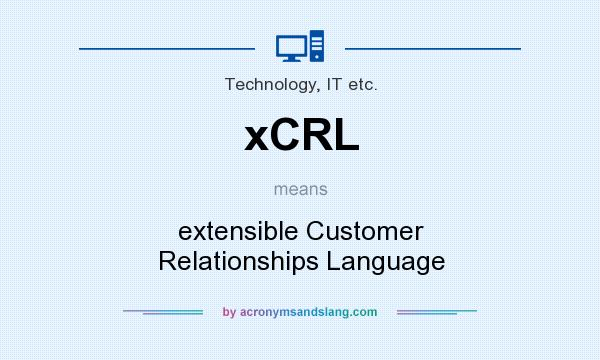 What does xCRL mean? It stands for extensible Customer Relationships Language