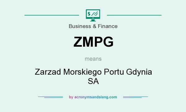 What does ZMPG mean? It stands for Zarzad Morskiego Portu Gdynia SA