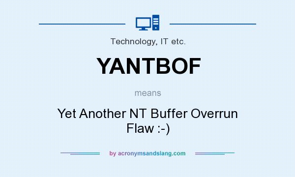 What does YANTBOF mean? It stands for Yet Another NT Buffer Overrun Flaw :-)